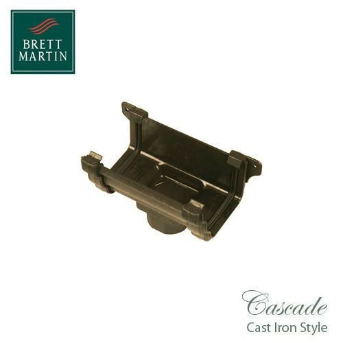 Cascade Cast Iron Style 106mm Plastic Prostyle Running Outlet - Sand