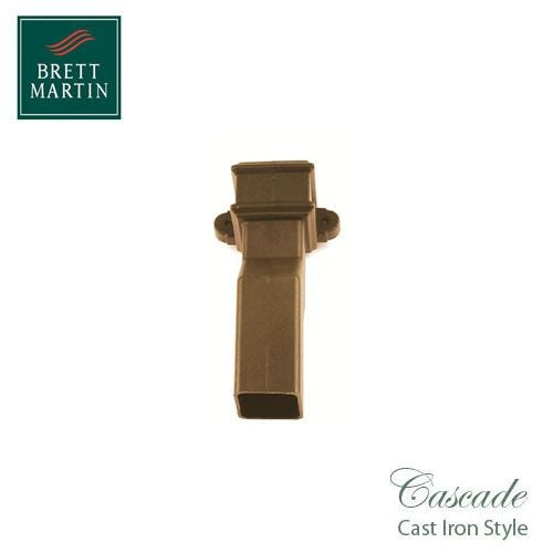 Cascade Cast Iron Style 50mm Plastic Plinth Offset With Lugs - Sand