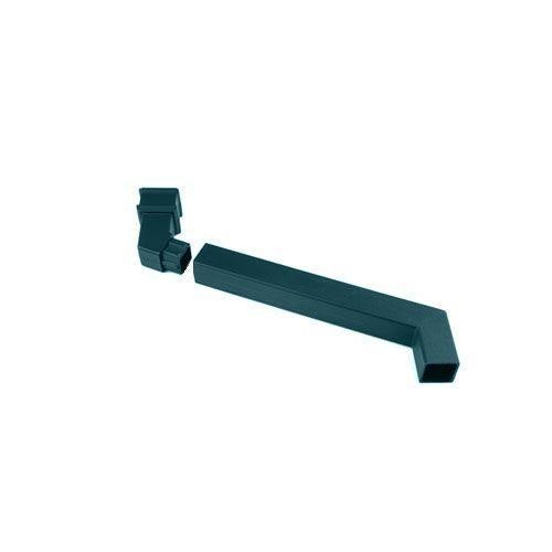 Cascade Cast Iron Style Square Downpipe Adjustable Offset Bend - Green