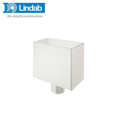 Lindab Small Rectangular Water Hopper 75mm Painted Antique White