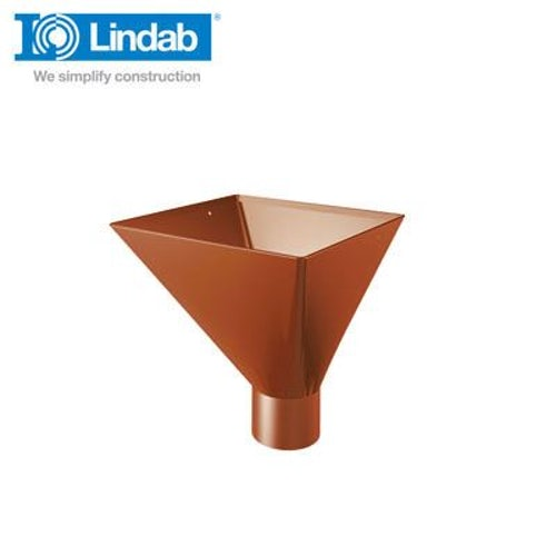 Lindab Large Square Water Hopper 100mm Painted Tile Red