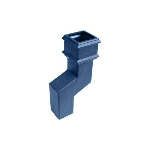 Cascade Cast Iron Style 75mm Square Downpipe Offset Bend - Blue