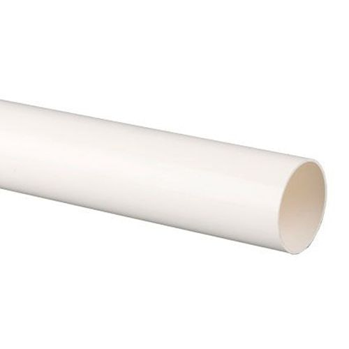 Plastic Guttering Round Style Downpipe 4m Length 68mm - White