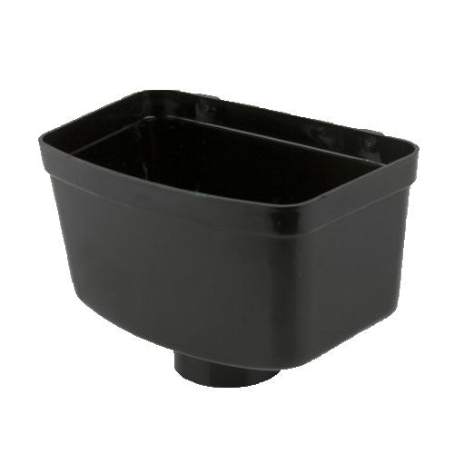 Guttering Industrial Downpipe Rainwater Head Hopper 110mm - Black