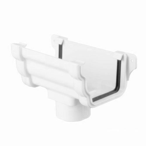 Plastic Guttering Ogee Prostyle Running Outlet 106mm - Arctic White
