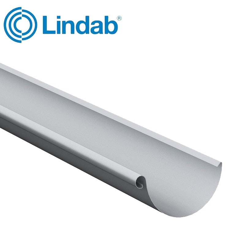 Video of Lindab Steel Half Round Guttering 100mm x 3m Painted Silver Metallic