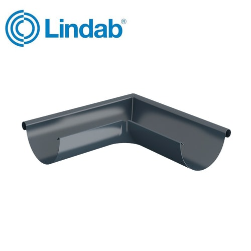 Lindab Half Round 90dg Outer Gutter Angle 100mm Painted Dark Grey