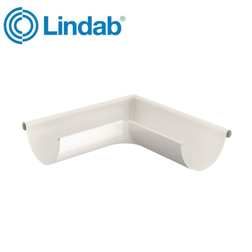 Lindab Half Round 90dg Outer Gutter Angle 125mm Painted Antique White