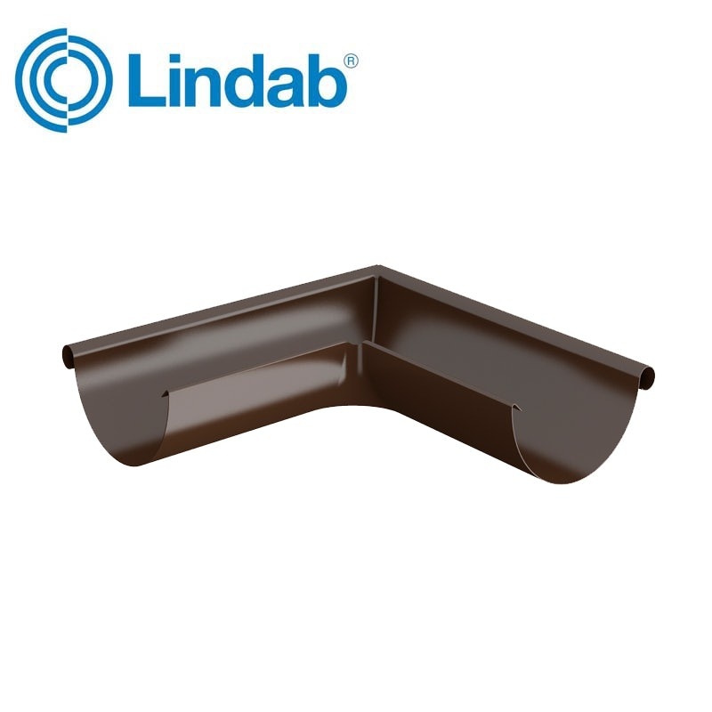 Video of Lindab Half Round 90dg Outer Gutter Angle 150mm Painted Brown