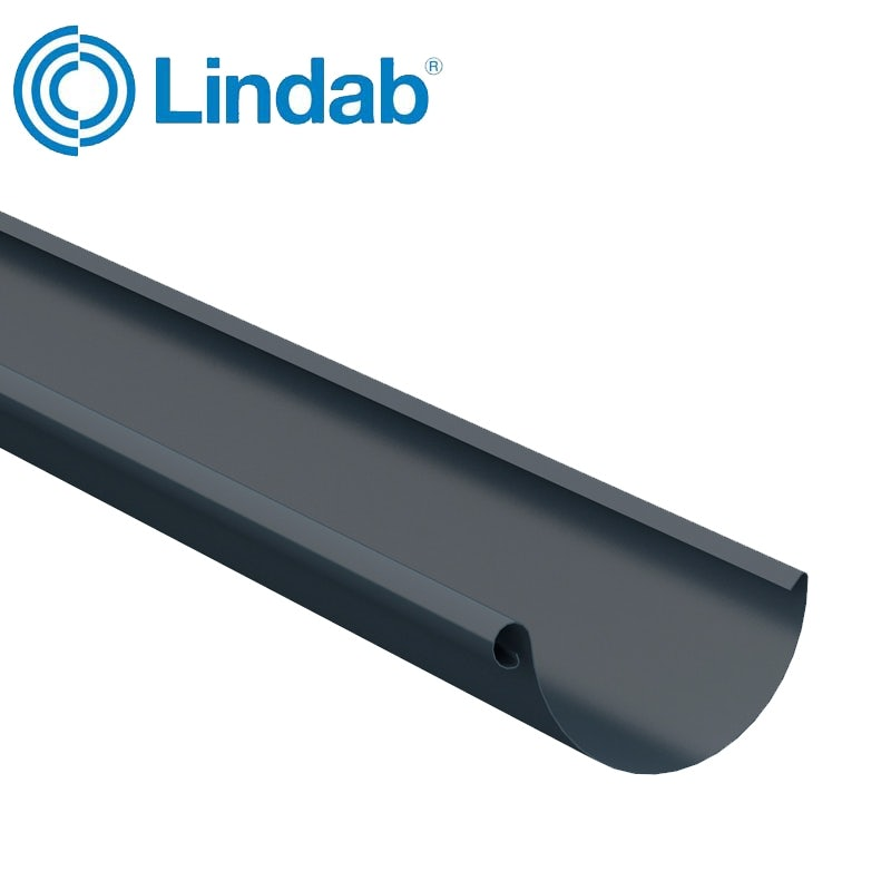 Video of Lindab Steel Half Round Guttering 125mm x 3m Painted Dark Grey