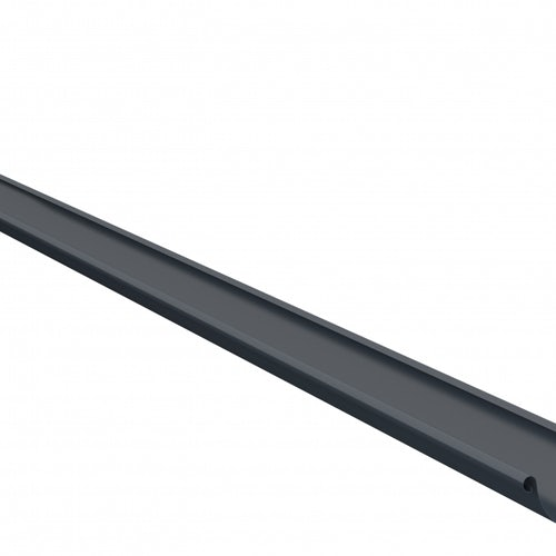 Lindab Steel Half Round Guttering 125mm x 3m Painted Dark Grey