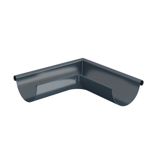Lindab Half Round 90dg Outer Gutter Angle 150mm Painted Dark Grey