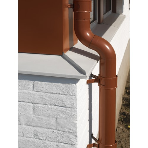 Lindab Steel Half Round Guttering 150mm x 3m Painted Tile Red
