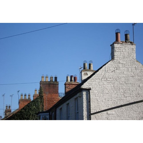 Galvanised 225mm Wire Balloon Leaf Guard for Chimneys