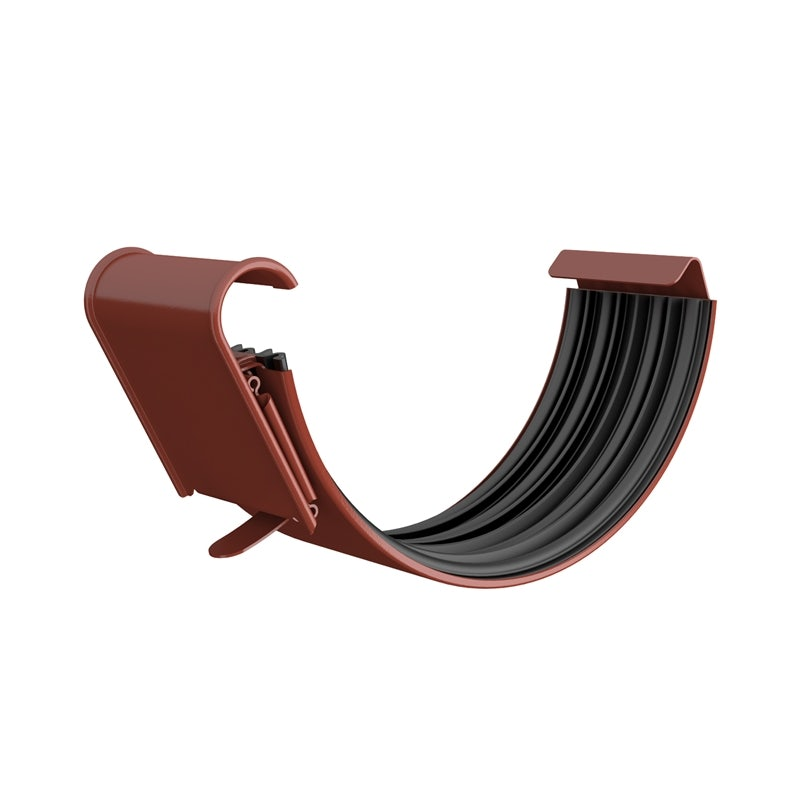 Video of Lindab Half Round Gutter Joint 150mm Painted Tile Red