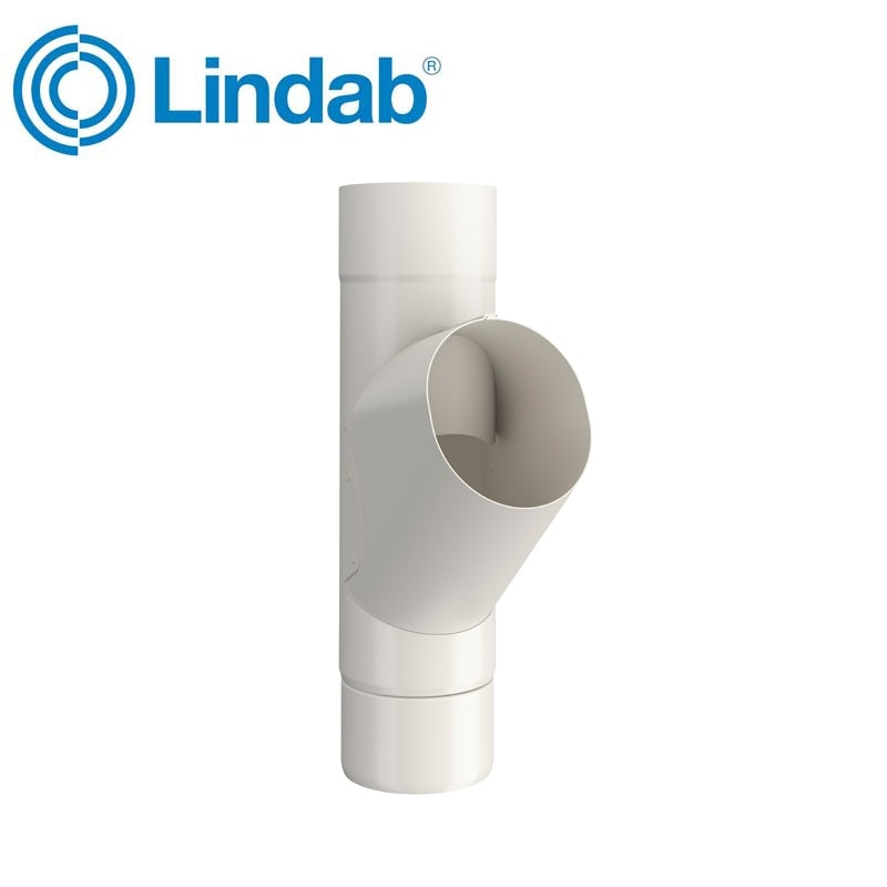 Video of Lindab Guttering Round Adjustable Branch 75mm Painted Antique White