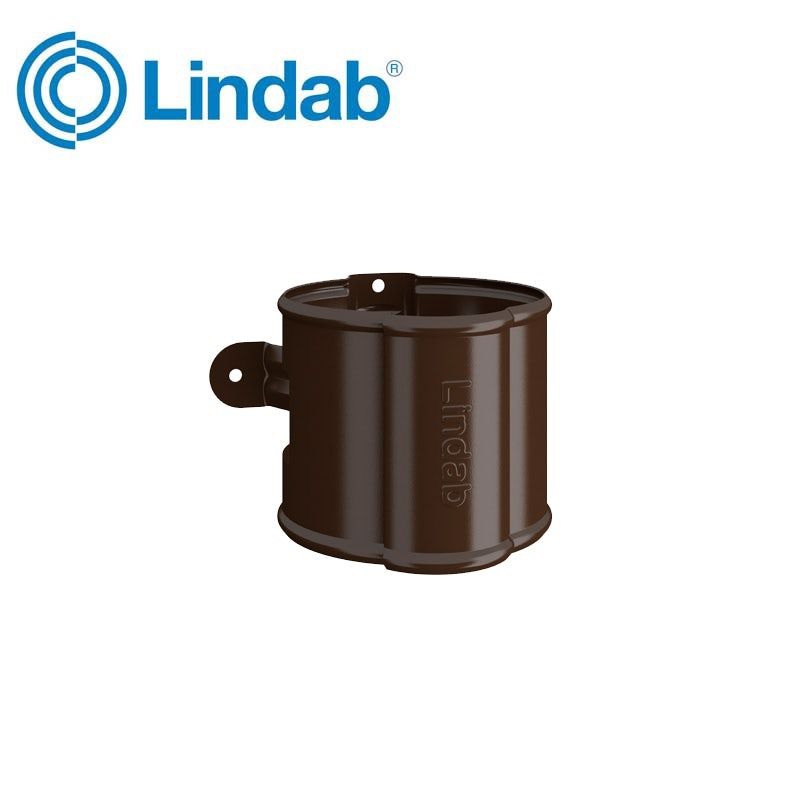 Video of Lindab Round Downpipe Bracket 75mm Painted Brown