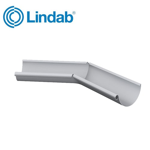 Lindab Half Round 135dg Inner Gutter Angle 150mm Painted Silver