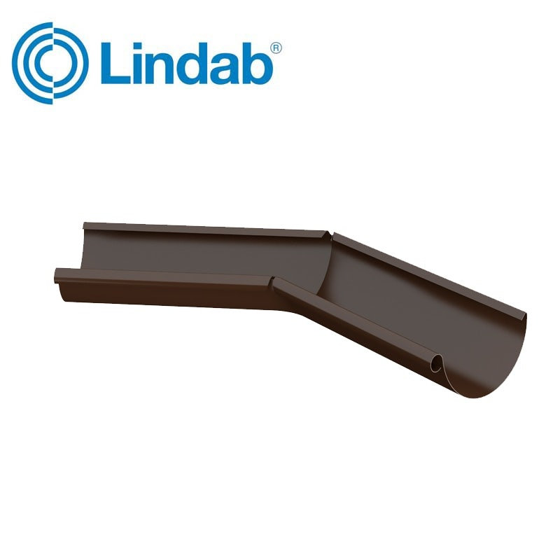 Video of Lindab Half Round 135dg Inner Gutter Angle 150mm Painted Brown