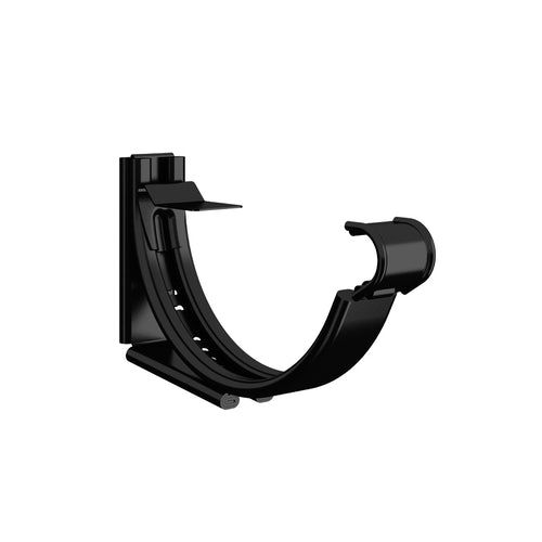 Lindab Round Adjustable Snap-On Bracket 100mm Painted Black