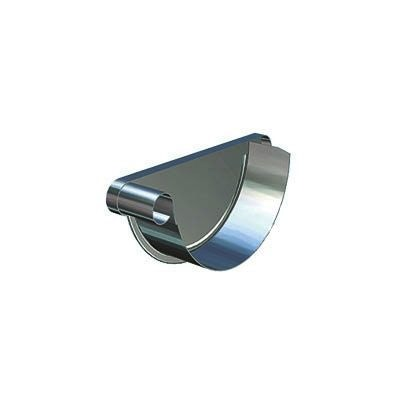 Video of Lindab Half Round Steel Left Handed Stop End 190mm Painted Dark Grey