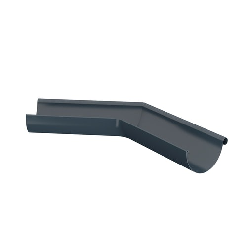 Lindab Half Round 135dg Outer Gutter Angle 100mm Painted Dark Grey