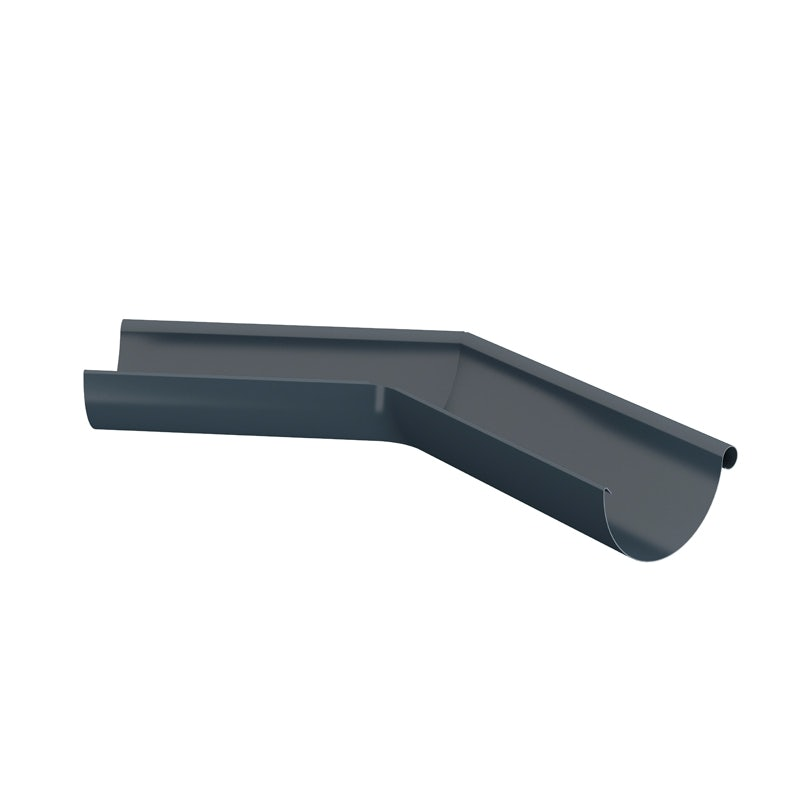 Video of Lindab Half Round 135dg Outer Gutter Angle 125mm Painted Dark Grey