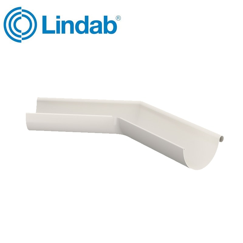 Video of Lindab Half Round 135dg Outer Gutter Angle 150mm Painted Antique White