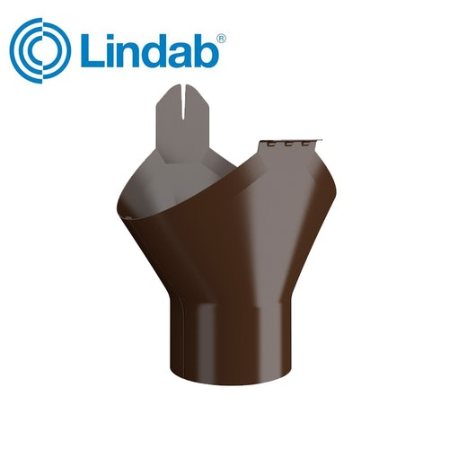 Lindab Half Round Gutter Outlet 100mm Painted Brown