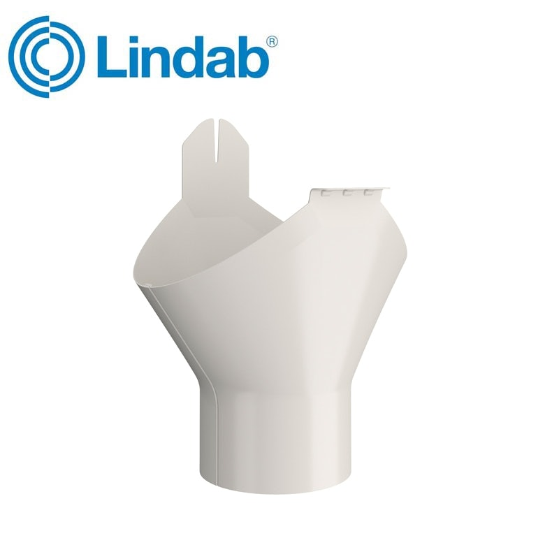 Video of Lindab Half Round Gutter Outlet 150mm Painted Antique White