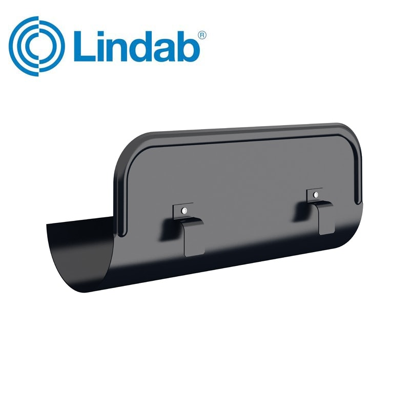 Video of Lindab Half Round Straight Overflow Protector 125mm Painted Black