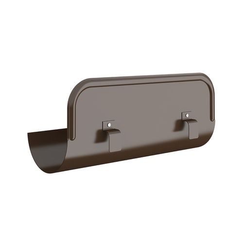 Lindab Half Round Straight Overflow Protector 150mm Painted Brown