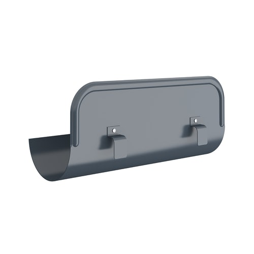 Lindab Half Round Straight Overflow Protector 150mm Painted Dark Grey