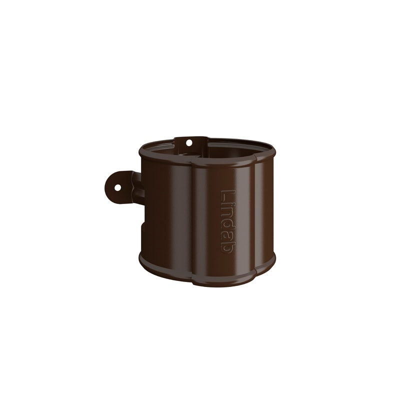 Video of Lindab Round Downpipe Bracket 87mm Painted Brown