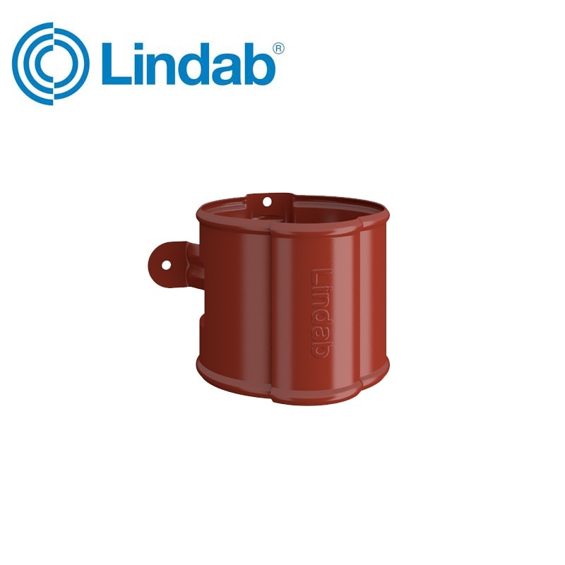 Video of Lindab Round Downpipe Bracket 87mm Painted Tile Red