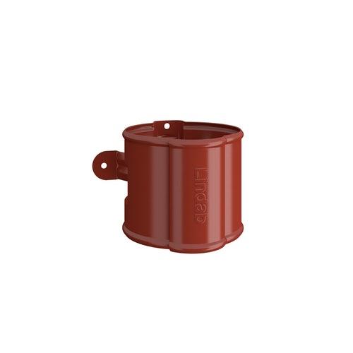 Lindab Round Downpipe Bracket 87mm Painted Tile Red