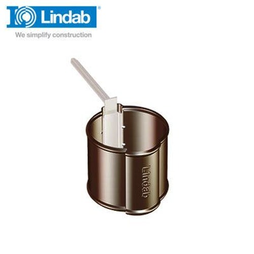 Lindab Round Downpipe Pipe Holder 100mm Painted Brown
