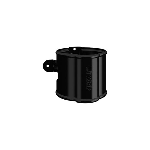 Lindab Round Downpipe Bracket 100mm Painted Black