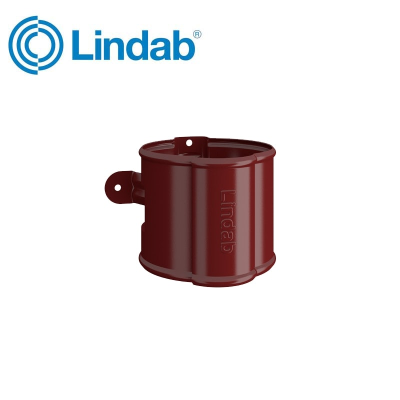 Video of Lindab Round Downpipe Bracket 100mm Painted Dark Red