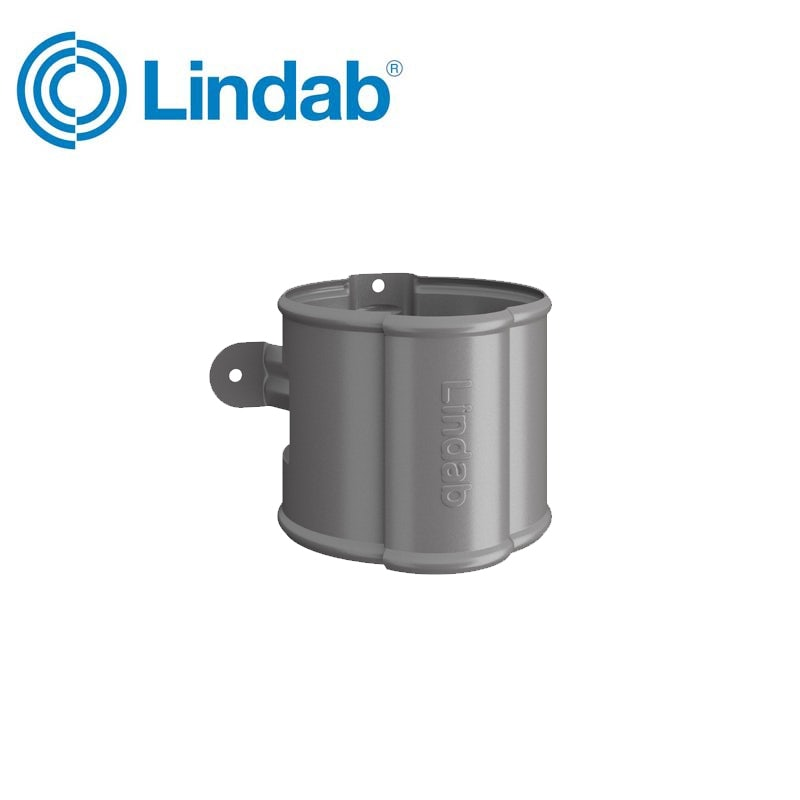 Video of Lindab Round Downpipe Bracket 100mm Painted Anthracite Metallic