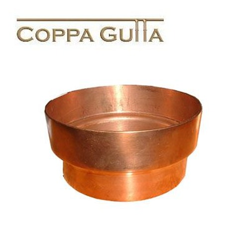 Copper Guttering Downpipe Connector 80mm