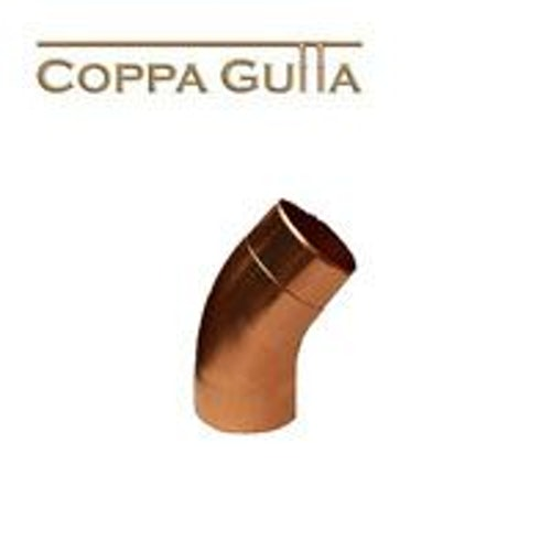 Copper Guttering Round Downpipe 40dg Bend 100mm