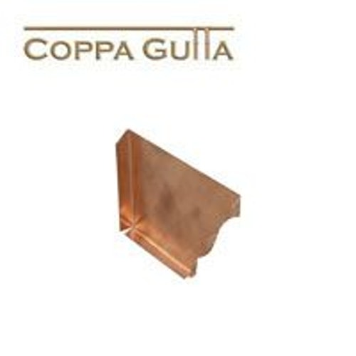 Copper Guttering Standard Ogee Right Hand Stop End