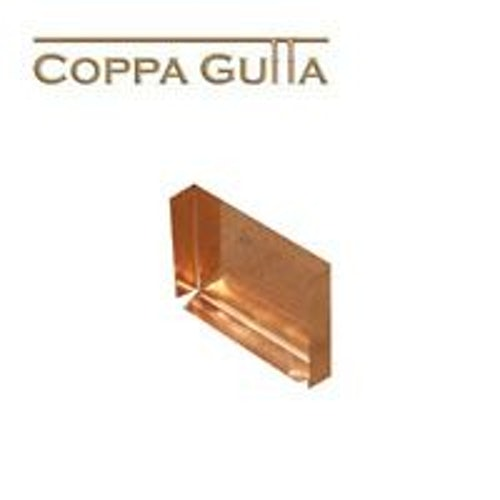 Copper Guttering Stop End for Large Box Gutter