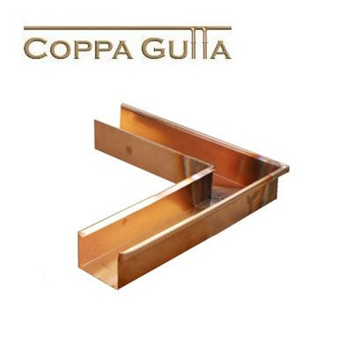 Copper Guttering Standard Box Profile External Corner 90 Degree