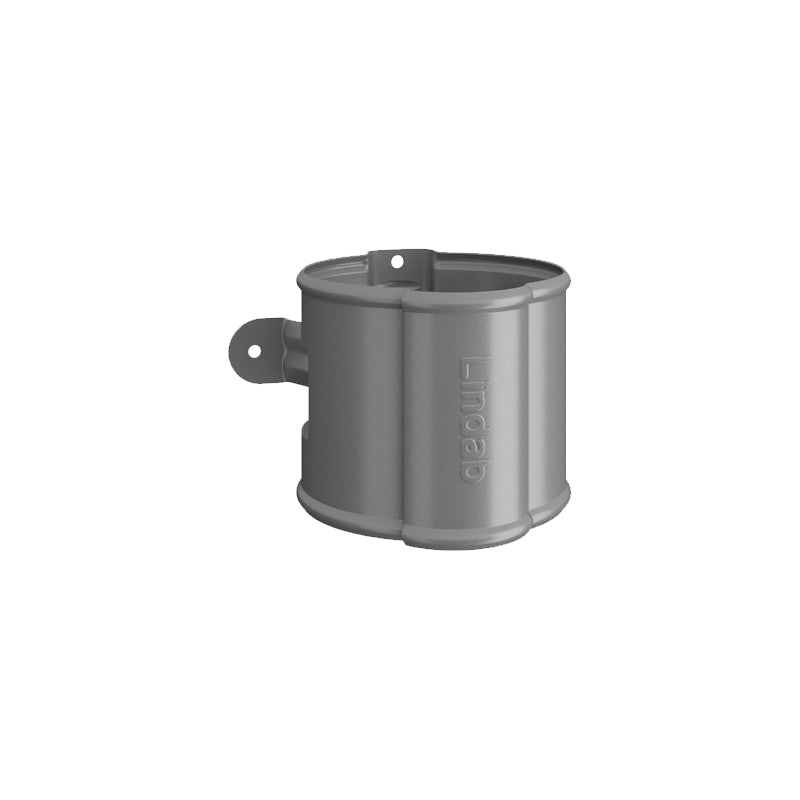 Video of Lindab Steel Round Downpipe Bracket 120mm Painted Anthracite Metallic