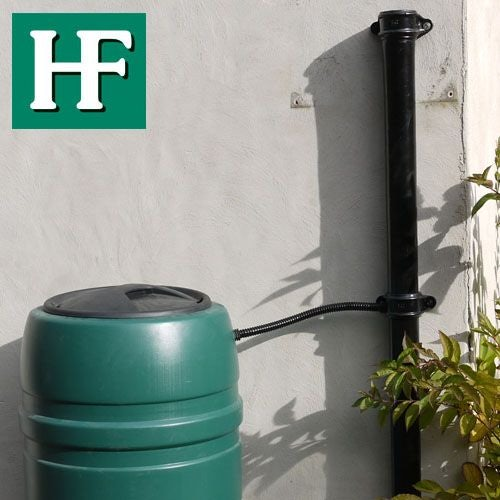 Cast Iron Round Downpipe With Ears 65mm x 900mm Length - Primed Finish