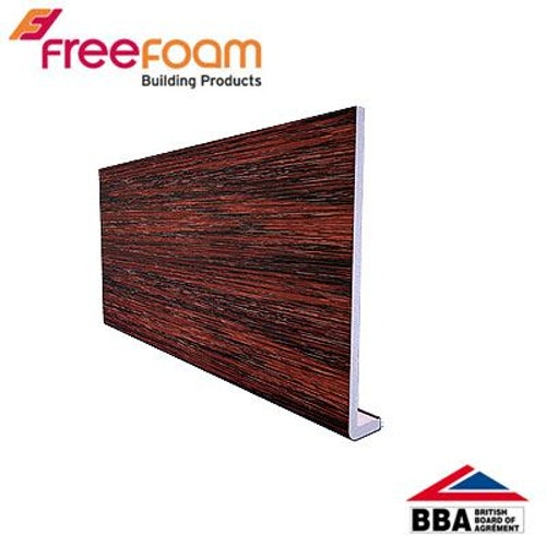 uPVC 200mm Fascia Board (10mm Cappit Square Edged) 5m - Mahogany