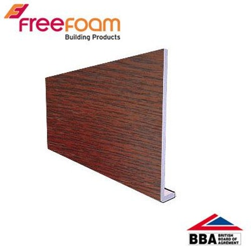uPVC 175mm Fascia Board (10mm Cappit Square Edged) 5m - Rosewood