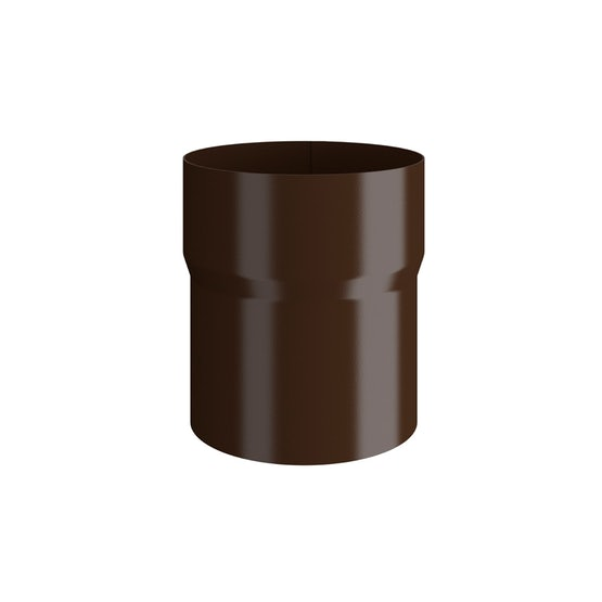 Video of Lindab Round Pipe Connector 87mm Painted Brown